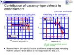 contribution of vacancy type defects to embrittlement