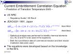 current embrittlement correlation equation prediction of transition temperature shift