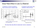 dose rate effect in low cu material