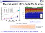 thermal ageing of fe cu ni mn si alloys