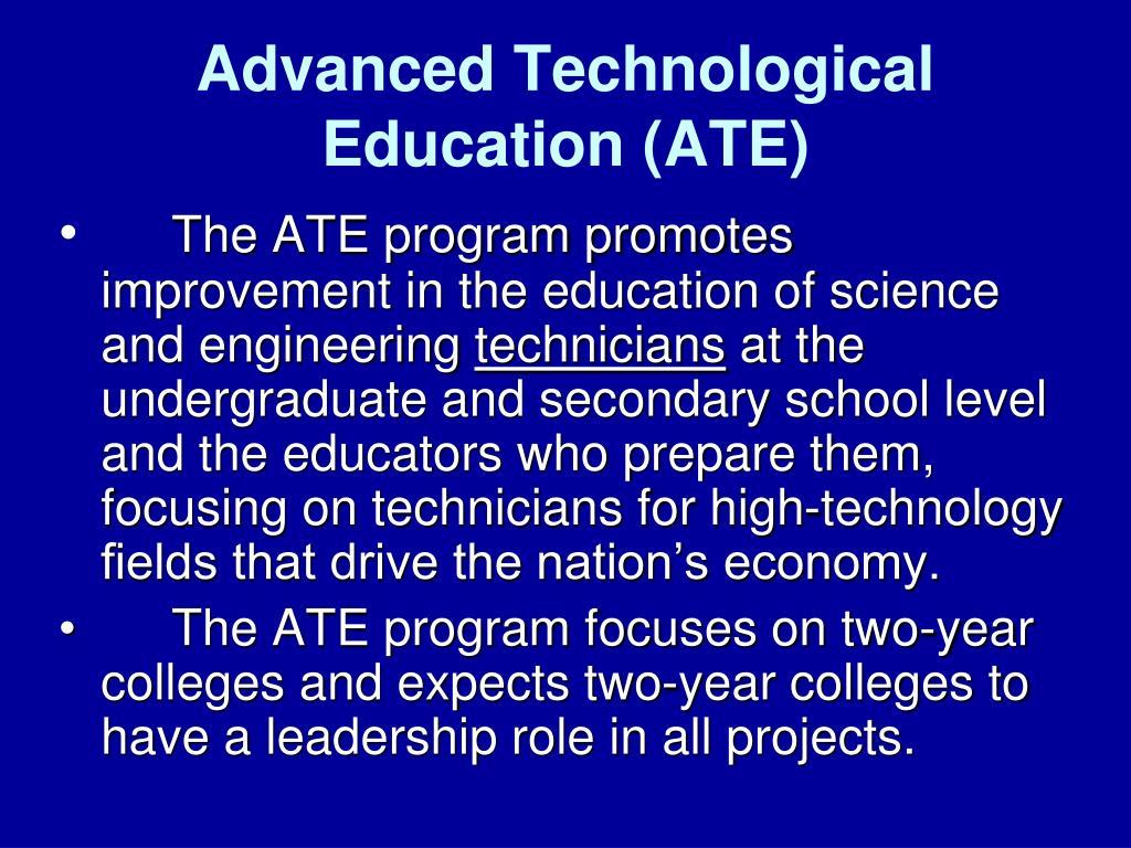 advanced technological education ate l.
