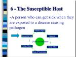 6 the susceptible host