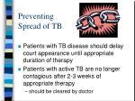 preventing spread of tb