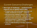 current concerns challenges