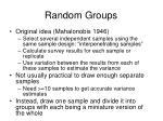 random groups