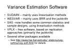 variance estimation software