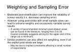 weighting and sampling error