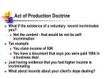 act of production doctrine