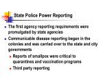 state police power reporting