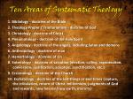 ten areas of systematic theology