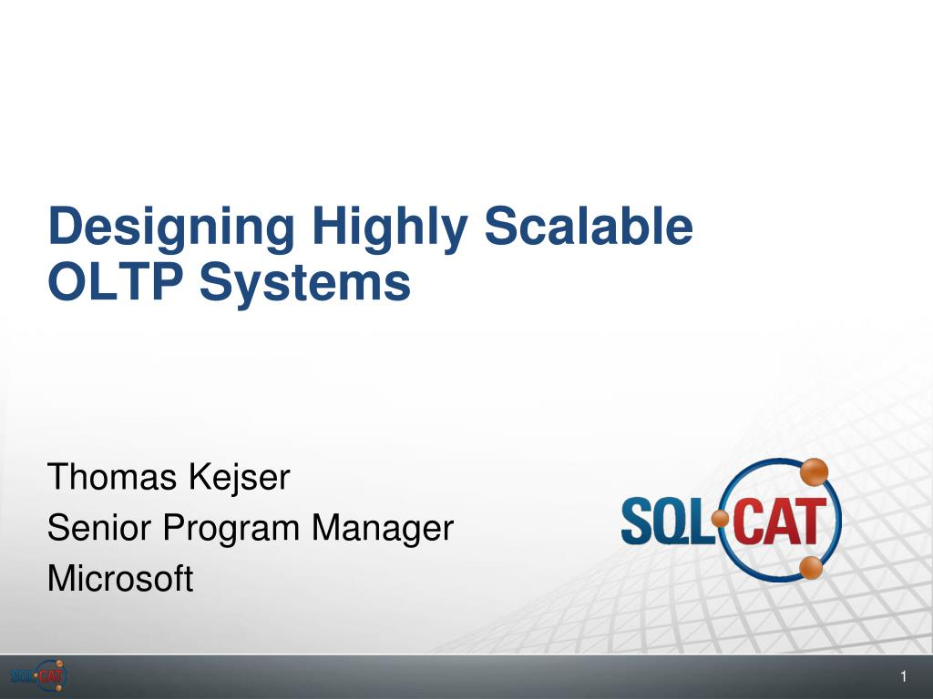 designing highly scalable oltp systems l.