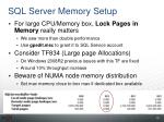sql server memory setup
