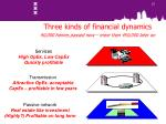 three kinds of financial dynamics 40 000 homes passed now more than 450 000 later on