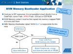 nvm memory bootloader application