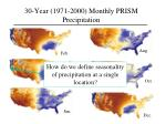 30 year 1971 2000 monthly prism precipitation