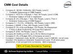 cmm cost details