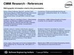 cmmi research references