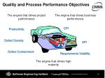 quality and process performance objectives