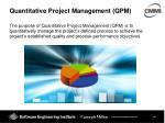 quantitative project management qpm