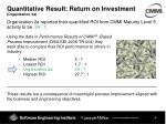 quantitative result return on investment organization 2a