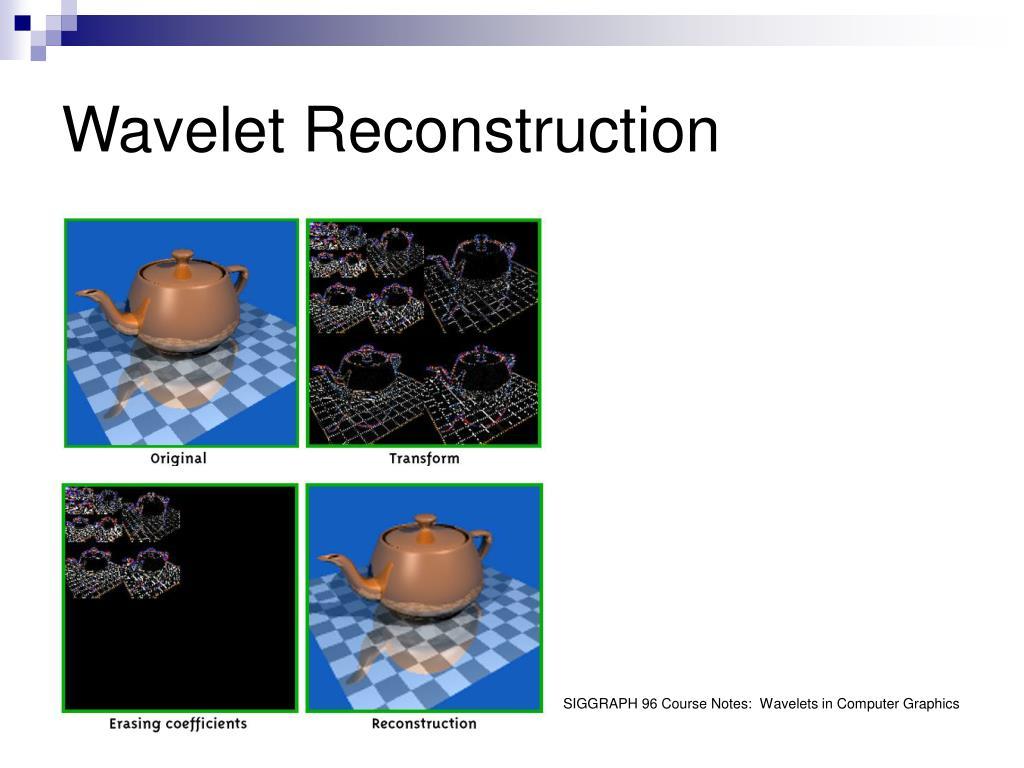 Wavelet Reconstruction