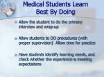 medical students learn best by doing25