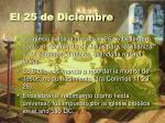 el 25 de diciembre10