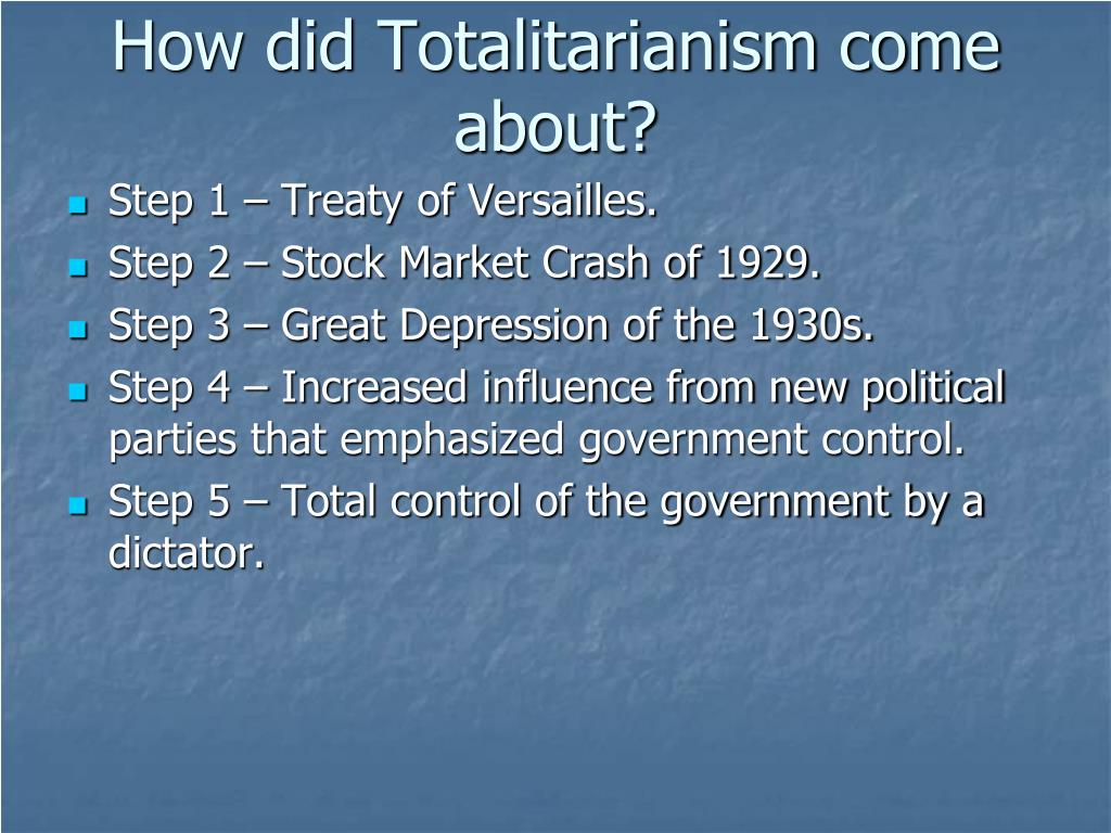 How did Totalitarianism come about?