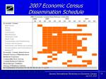 2007 economic census dissemination schedule