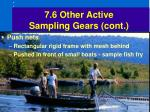 7 6 other active sampling gears cont