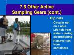 7 6 other active sampling gears cont46