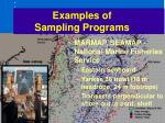 examples of sampling programs