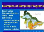 examples of sampling programs16