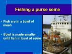 fishing a purse seine