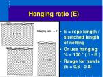 hanging ratio e
