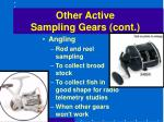 other active sampling gears cont50