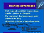 trawling advantages