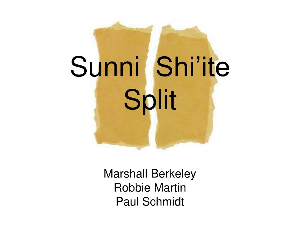 sunni shi ite split l.
