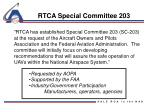 rtca special committee 203