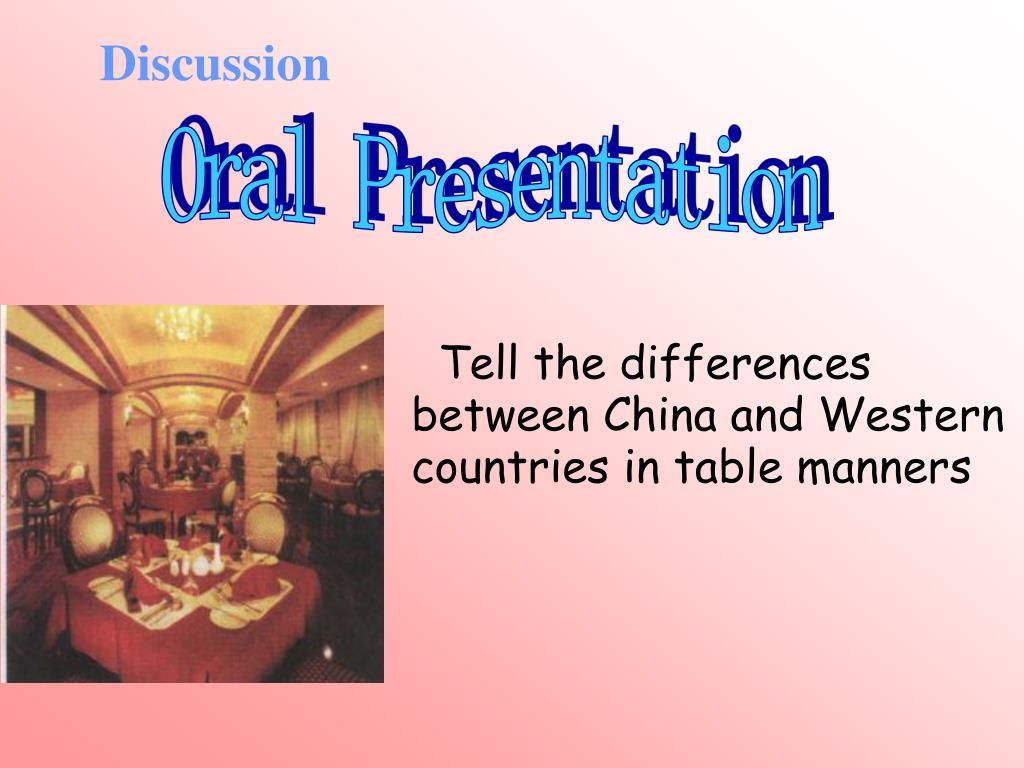 oral discussion