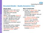 document details quality assurance view