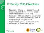 it survey 2008 objectives