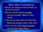 mass mass calculations