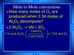 mole to mole conversions17