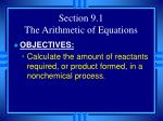 section 9 1 the arithmetic of equations