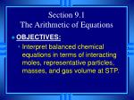 section 9 1 the arithmetic of equations3