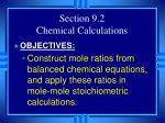 section 9 2 chemical calculations