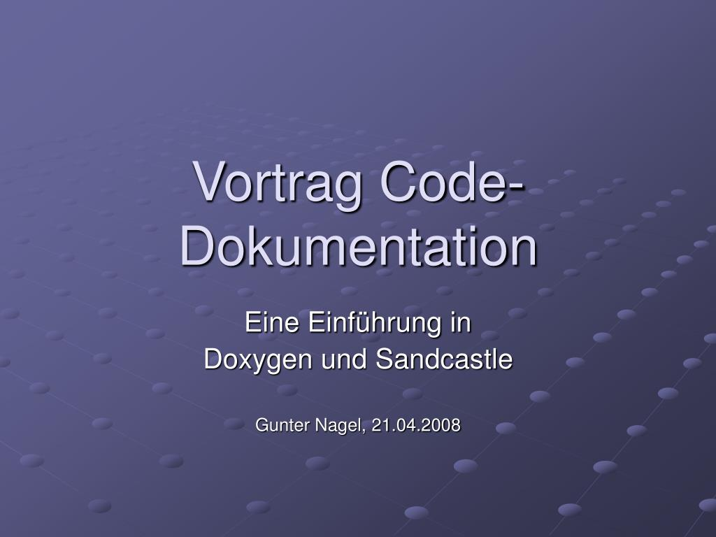 vortrag code dokumentation l.