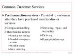 common customer services13