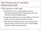the customer service and sales enhancement audit